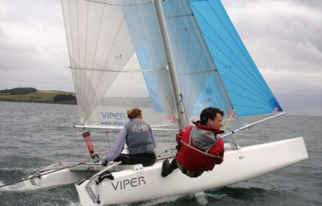 Tom Phipps sailing Goodall Viper F16