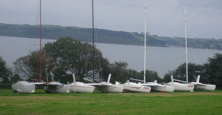 Firebirds stored at Windsport, Mylor, Falmouth