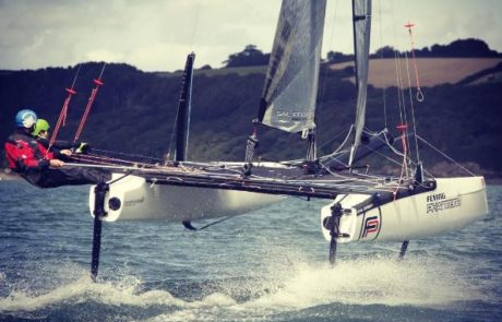 Coaching on foiling catamarans at Windsport