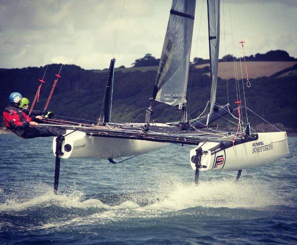 Coaching on foiling catamarans at Windsport
