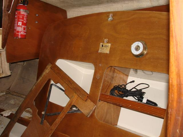Cornish Shrimper boat repairs at Windsport Falmouth Cornwall