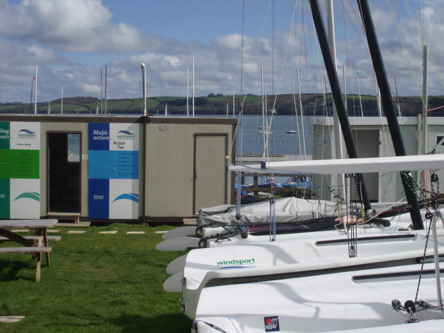 The Windsport Falmouth on site office.