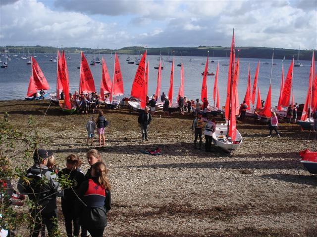 Dinghy racing or learning to sail at Windsport Falmouth Cornwall