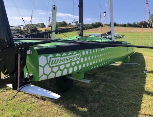 White Formula Whisper Foiling Catamaran joins Windsport's Boat Park