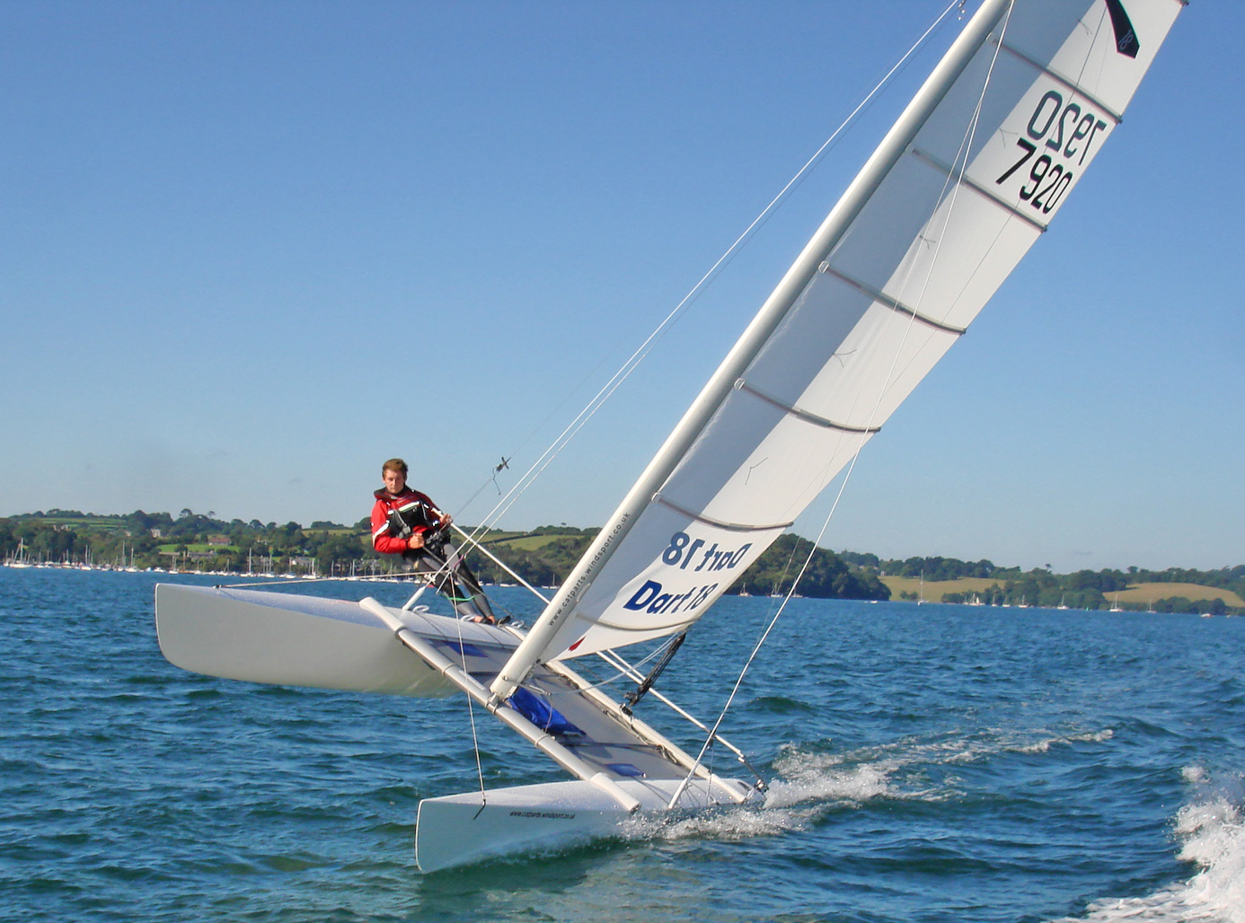 Dart 18 sailed single handed