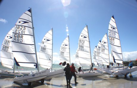 Sprint 15 catamarans ready to race