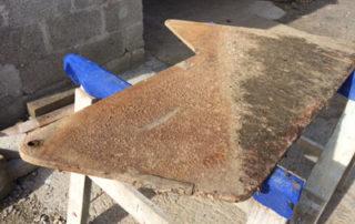 Cornish Shrimper Centre board Rust