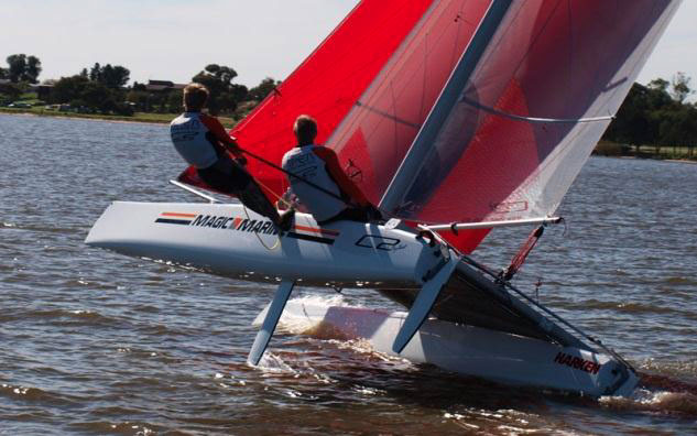 Learn to race a Goodall catamaran
