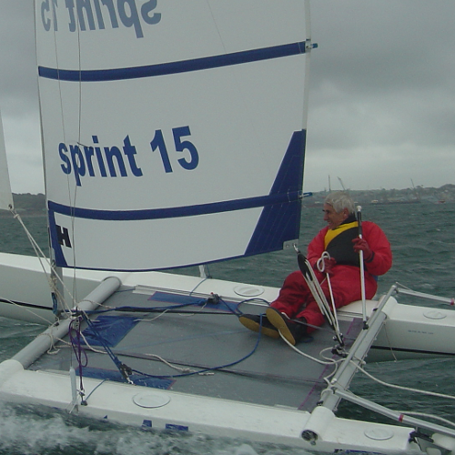 The Sprint 15 sailed by Ian Fraser